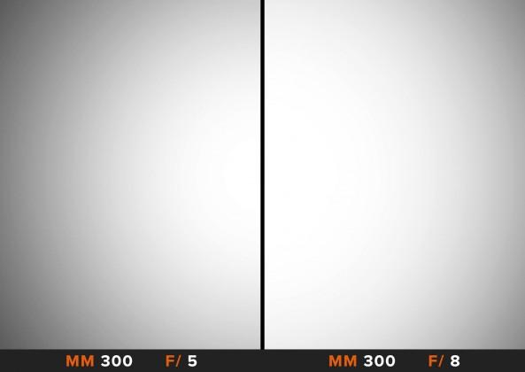Vignettatura 300mm Canon 100-400mm Comparazione obiettivi