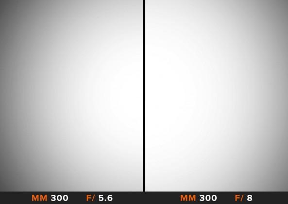 Vignettatura 300mm Sigma 150-600mm Comparazione obiettivi