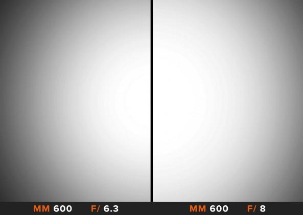 Vignettatura 600mm Sigma 150-600mm Comparazione obiettivi