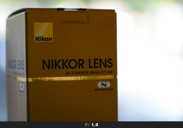 Aberrazioni f/1.4 Nikon 58mm f/1.4