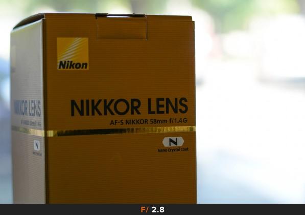 Aberrazioni f/2.8 Nikon 58mm f/1.4
