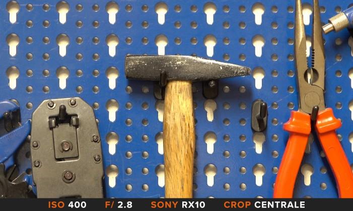 Crop centrale Sony RX10 Mk II 4K video