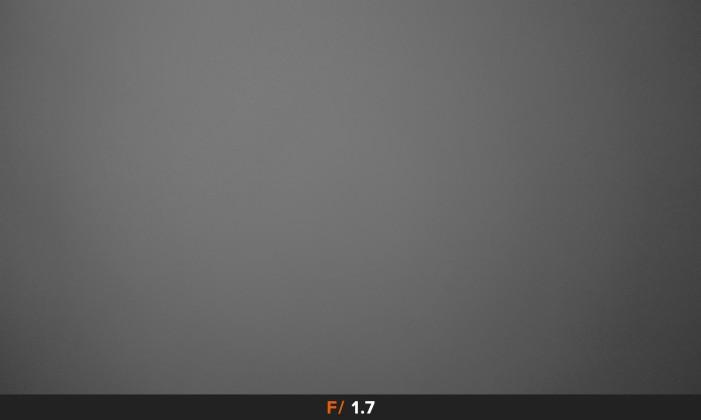 Vignettatura f/1.7 obiettivo Panasonic LX100