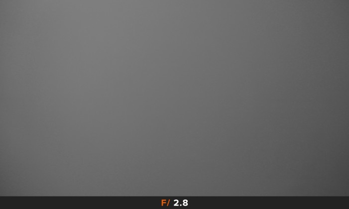 Vignettatura f/2.8 obiettivo Panasonic LX100