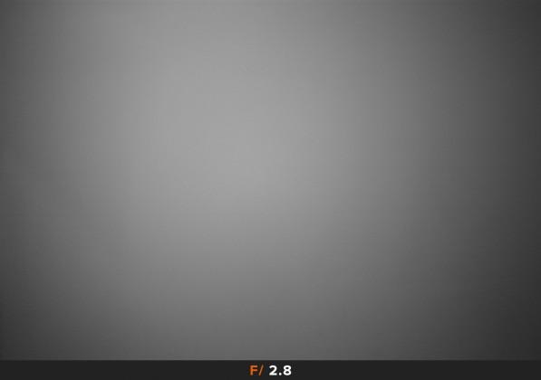 Vignettatura f/2.8 Samyang 14mm f/1.4