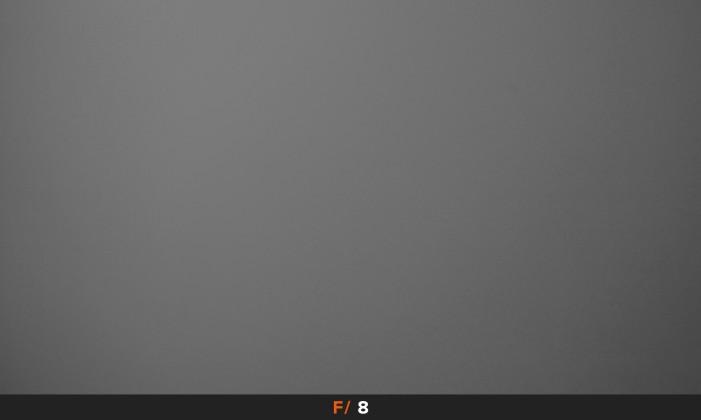 Vignettatura f/8 obiettivo Panasonic LX100