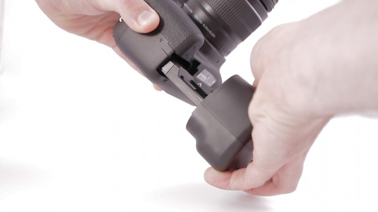 Canon inserimento battery grip