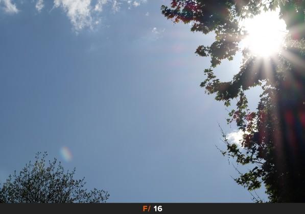 Flares f/16 FujiFilm Fujinon 50-140mm