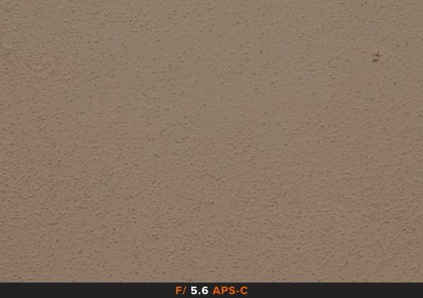 Vignettatura f/5.6 sigma 105mm Full Frame APS-C