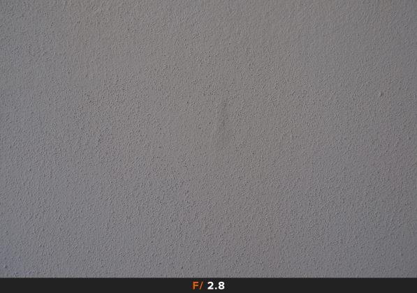 Vignettatura f/2.8 FujiFilm 35mm