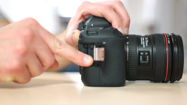 Scheda SD fotocamera tutorial ronin m