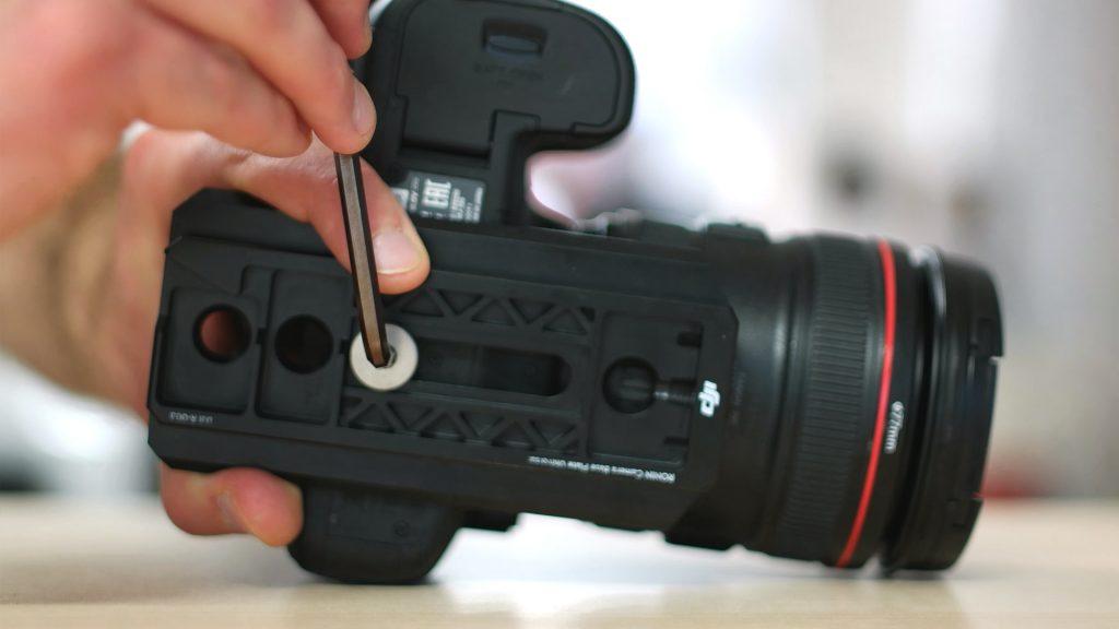 Slitta fotocamera tutorial ronin m