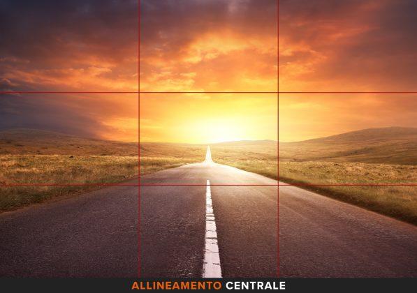 Allineamento centrale fotografia smartphone