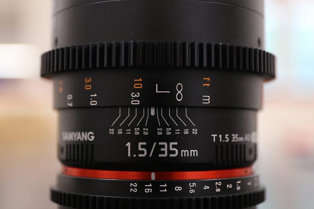 Profondità di campo Samyang 35mm