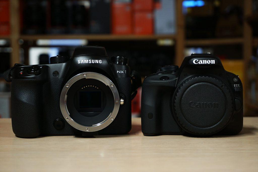 Samsung NX1 vs Canon 100D viaggio