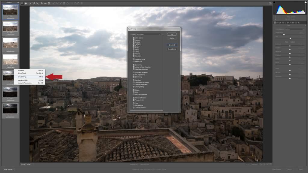 Sincronizzazione immagini HDR