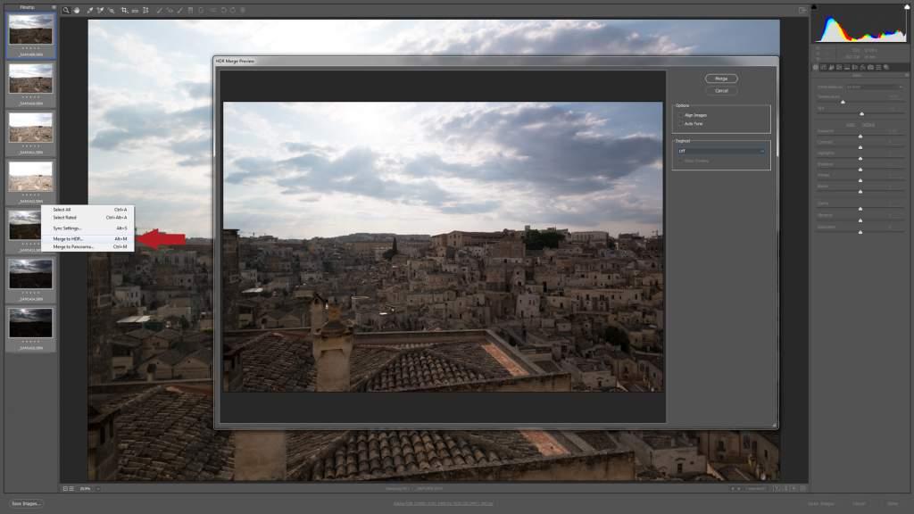 Unire immagini in HDR