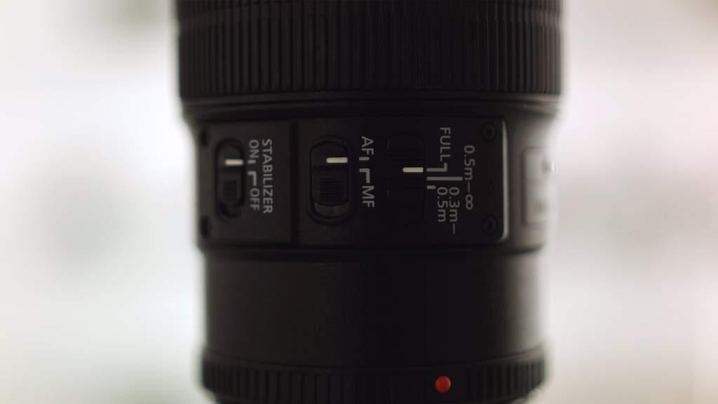 Dettaglio Switch Canon 100mm Macro