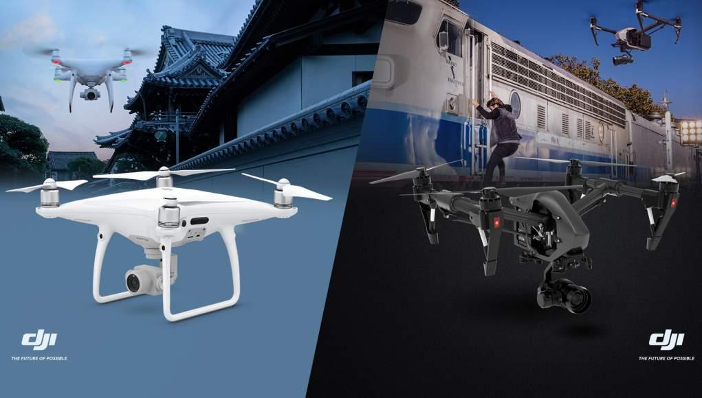 DJI Inspire 2 e Phantom 4 Pro - Scoprite i Droni su OlloStore.it