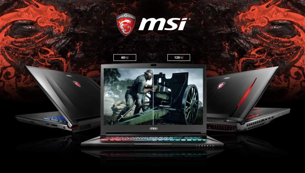 Notebook Gaming MSI - Adesso con Display a 120Hz