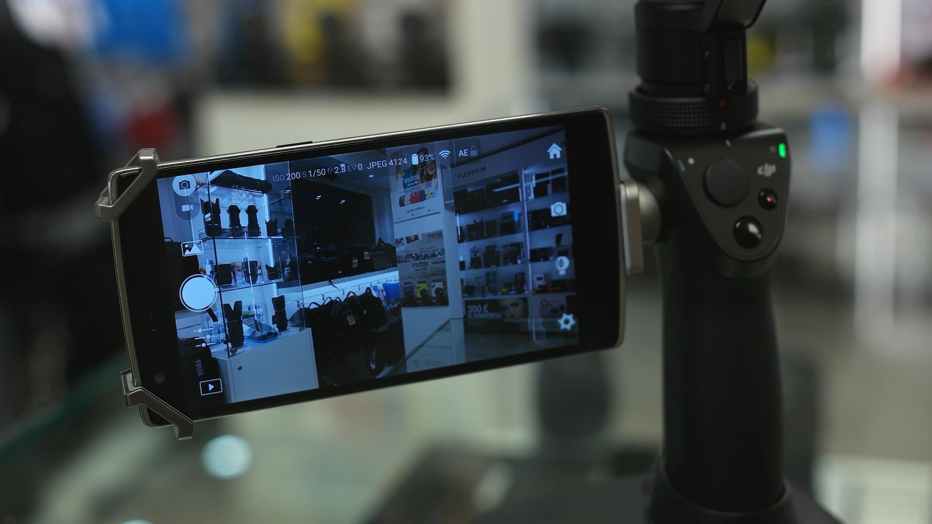 Inserire Smartphone supporto DJI Osmo
