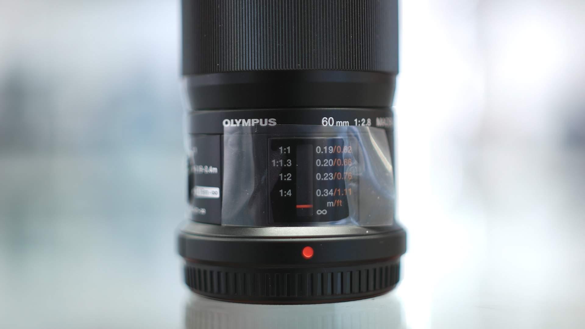 Finestra distanza fuoco Olympus 60mm f2.8