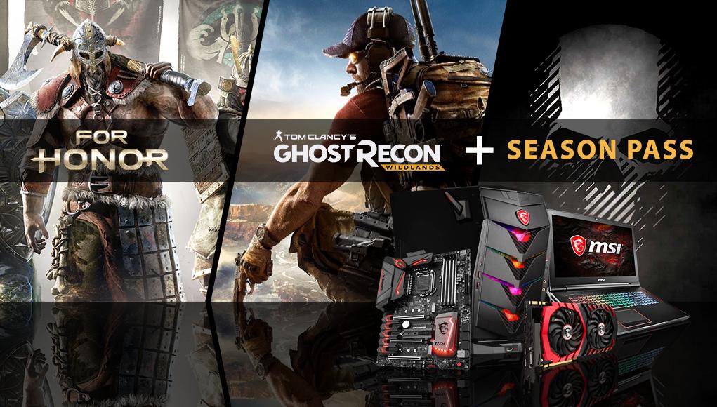 For Honor e Ghost Recon Wildlands in regalo con i prodotti MSI