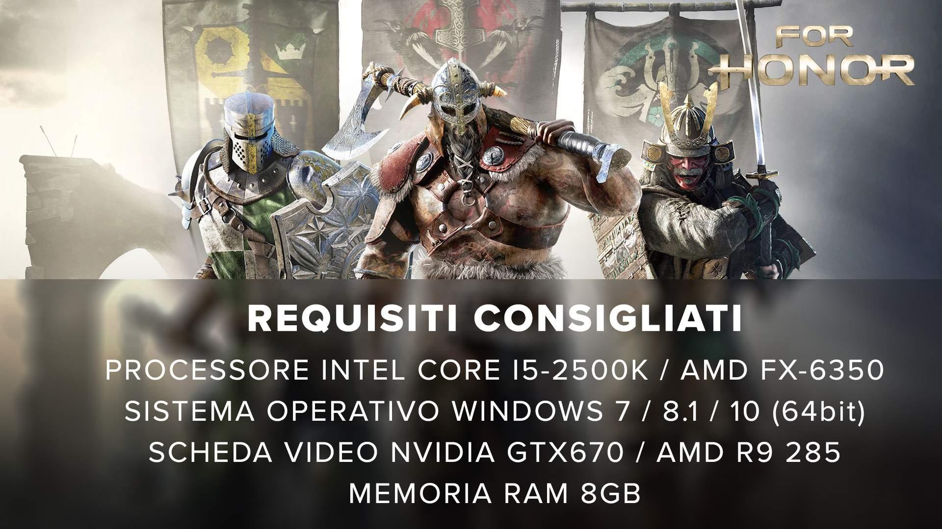 Requisiti consigliati for honor ollo g3 gaming advanced