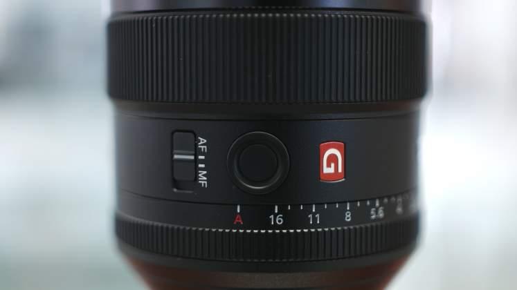 Dettaglio Switch modalità focus Sony 85mm f1.4 GM