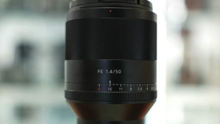 Dettaglio ghiere Sony FE 50mm f1.4 G Master