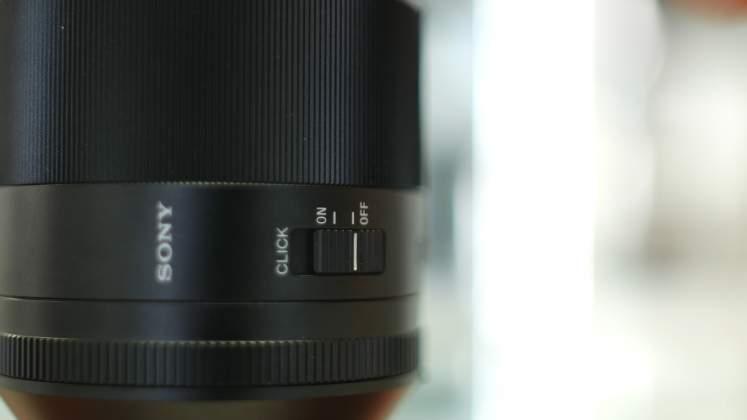 Dettaglio Switch diaframma Sony FE 50mm f1.4 G Master