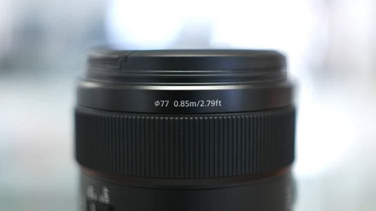 Diametro filtro Sony 85mm f1.4 GM