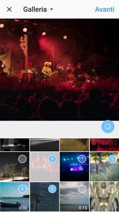 Multi-Selezione foto 2 Instagram post multi immagine