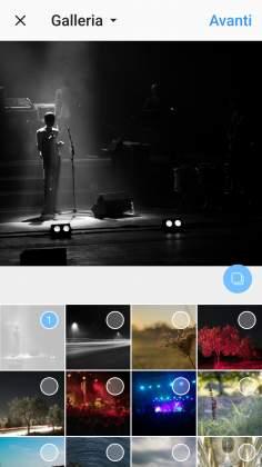Multi-Selezione foto Instagram post multi immagine