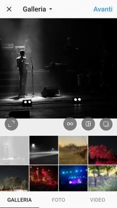 Selezione foto Instagram post multi immagine