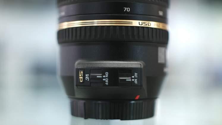 Dettaglio Switch Tamron 27-70mm f2.8