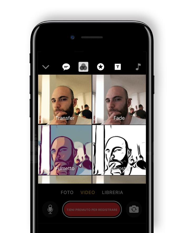 Effetti Apple Clips app