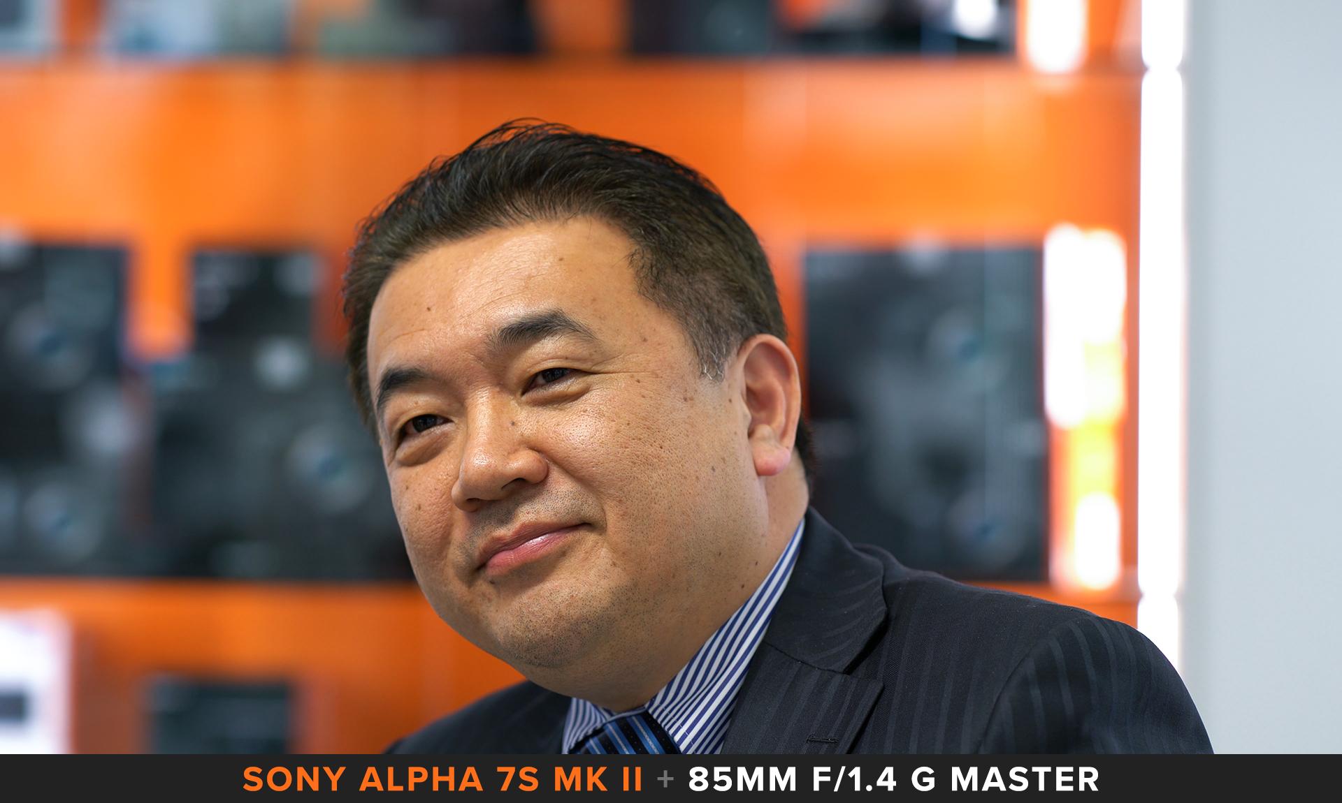 Frame strapolato da filmato Sony Alpha 7s II Intervista Yosuke Aoki