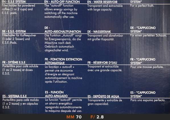 Nitidezza 70mm f2.8 Tamron 24-70mm f2.8