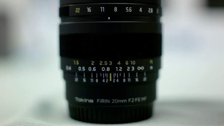 Dettaglio dcala diaframma Tokina Firin 20mm Presentazione Rinowa day