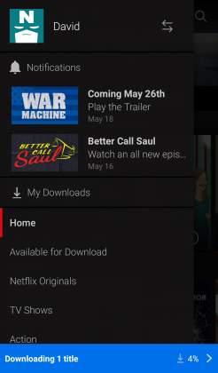 Menu downloading Netflix tutorial come scaricare film