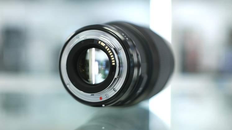 Parte posteriore Sigma 85mm f/1.4
