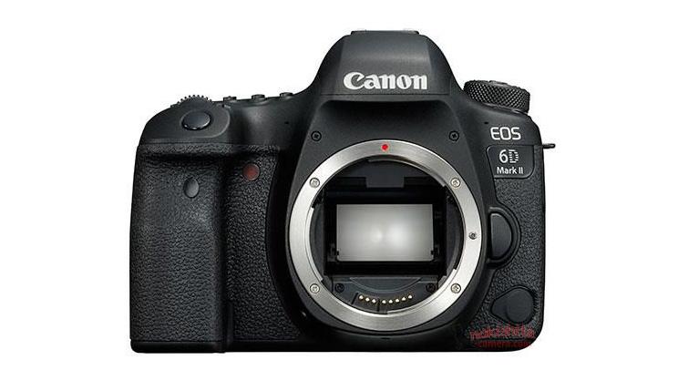 Vista frontale Canon Eos 6D Mark II