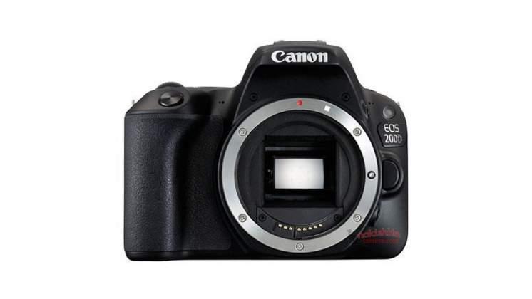Vista frontale rumors Canon 200D