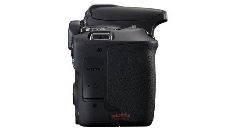 Vista laterale destra rumors Canon 200D