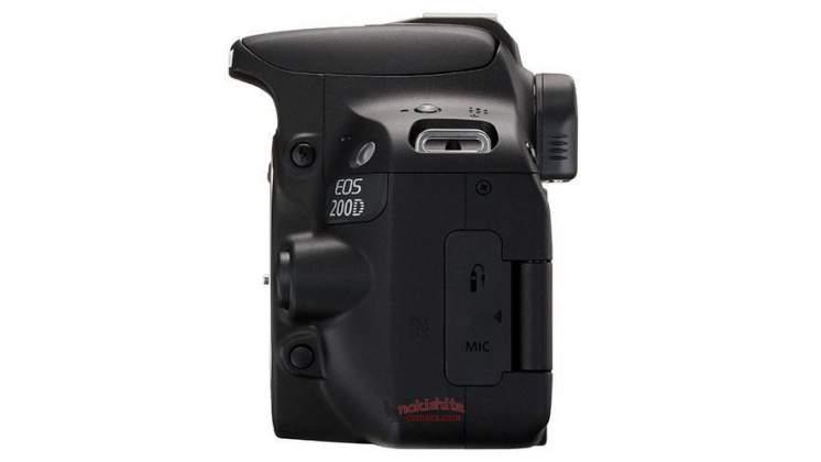 Vista laterale sinistra rumors Canon 200D