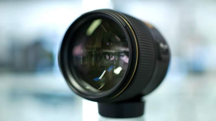 Vista lente frontale Nikon 105mm f1.4