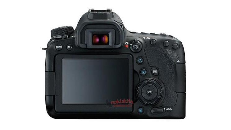 Vista posteriore Canon Eos 6D Mark II