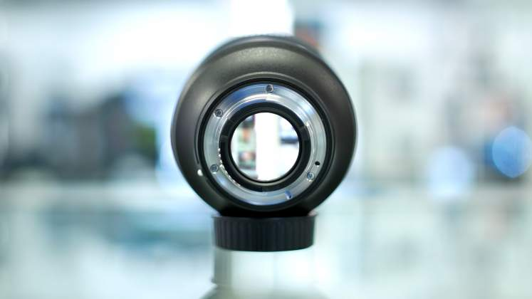 Vista posteriore Nikon 105mm f1.4