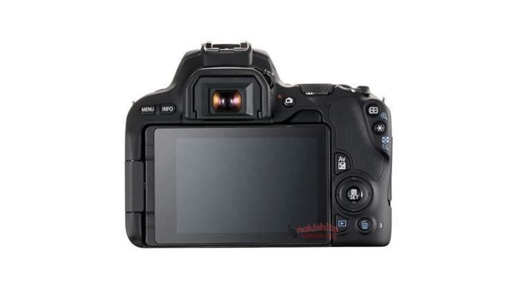 Vista posteriore rumors Canon 200D